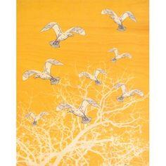 'Seagulls' Plywood Print