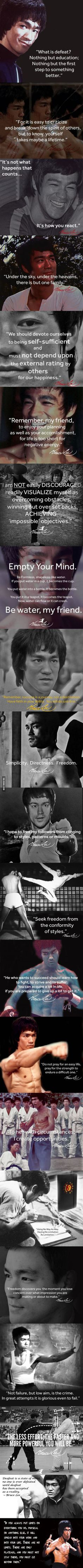 What is defeat? Very inspirational  #brucelee #bruceleequotes #kurttasche