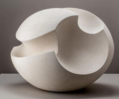 """""""White Blade Form"""" 2018 by #JamesOughtibridge #IonaHouseGallery is a beautiful #sculpture of an #abstract #wave made in #ceramic. More information on website #AffordableArtFair #affordable art #buyartonline #contemporaryart #ceramicart #artinspiredbythesea"""