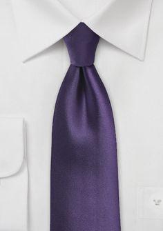 Krawatte einfarbig purpur