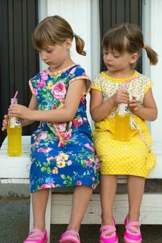 Sewing: Floral Lulu Dresses for Summer