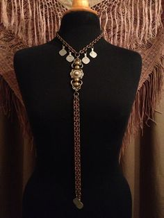 Tribal Fusion Necklace - Vintage Belly Dance -Tribal Belly Dance