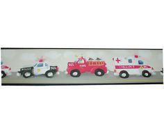 6052 Kids 911 Emergency Wall Border Chicago Fire Department and Chicago Police Department gifts.