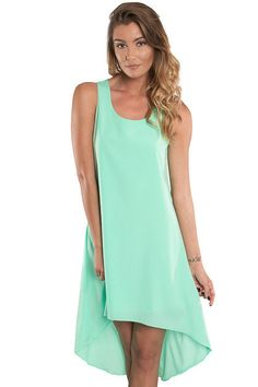 Why not have a Seaside Soiree? This free flowing mint dress is made for spring/summer weather! Seaside Soiree dress features a high/low design perfect for making a fashion statement! - High/Low Cut -