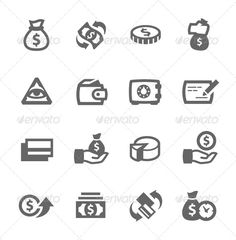 Money Icons #commercial #currency  • Download here → https://graphicriver.net/item/money-icons/7573665?ref=pxcr