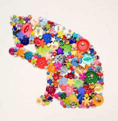 Button art - time for a wash!