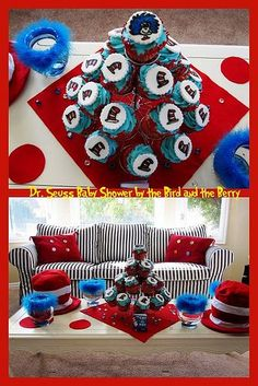 dr seuss cupcakes baby shower | Dr. #Seuss Birthday #Party #Cupcakes