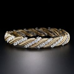 Contemporary 18K and Diamond Bracelet, circa late 20th Century, Lang Antiques. <3