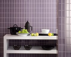 Kensington glazed ceramic walls tiles by Lea Ceramiche