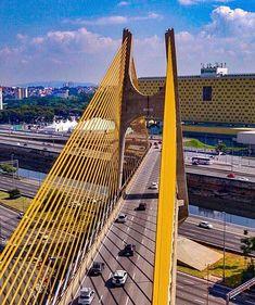 A ponte que eu me recuso chamar de Orestes Quercia by @dronilo_  #saopaulocity #EuVivoSP #sobrevoandosp