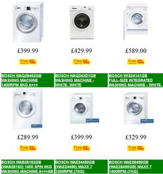 Cheap Bosch Washing Machine Deals | Versatile washing machines packed with practical features to suit your washing