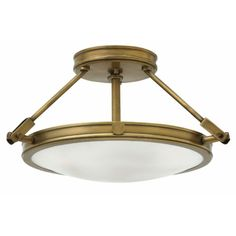You'll love the Cabot 3-Light Semi Flush Mount at AllModern - With Great Deals on modern Lighting products and Free Shipping on most stuff, even the big stuff. Retro Ceiling Lights, Brass Ceiling Light, Semi Flush Ceiling Lights, Flush Mount Ceiling, Ceiling Fixtures, Light Fixtures, Cardiff, Led Röhren, Hinkley Lighting
