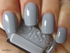 Gray Essie polish. Gray is the color to where for fall/winter this year