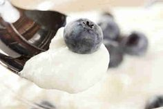 blueberries and greek yogurt