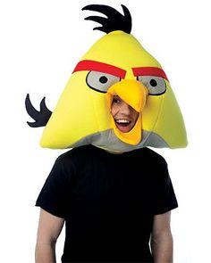 Adult Angry Birds Yellow Bird Headpiece Halloween Costume Accessories, Halloween Masks, Halloween Costumes For Kids, Adult Costumes, Video Game Costumes, Last Minute Costumes, Angry Birds Yellow Bird, Angry Birds Costumes, Costumes