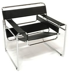 Wassily chair. Inspired by the design of a bicycle, interestingly enough.