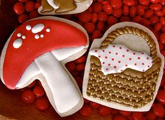 Oh Sugar Events: Little Red Riding Hood Royal Icing Cookies, Sugar Cookies, Red And White Mushroom, White Mushrooms, Red Riding Hood Party, Spice Cookies, Sugar And Spice, Different Recipes, Little Red