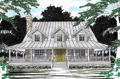 House Plans With Wrap Around Porch Layout Ranch Style 46 Super Ideas Cottage House Plans, Cottage Homes, Southern Living House Plans, Cottage Ideas, Farmhouse Plans, Country Farmhouse, Farmhouse Design, Farmhouse Decor, Best House Plans