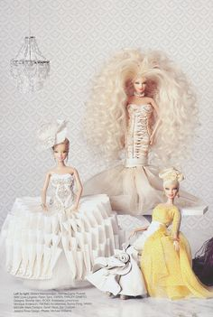Barbie Couture featuring Carrie Russell Baker's design (With Love Lingerie)