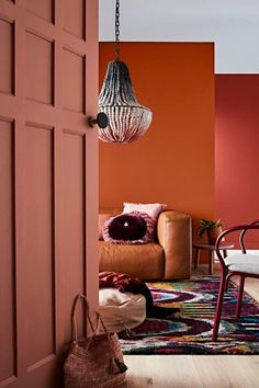 Herbst Wandfarbe In Terracotta, Braun Und Erdtoenen