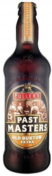 Cerveja Fuller's Past Masters Old Burton Extra, estilo Specialty Beer, produzida por Fuller's, Inglaterra. 7.3% ABV de álcool.