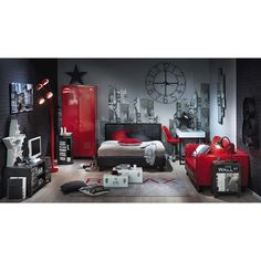 Bedside tables, beds and headboards Bedroom Red, Home Decor Bedroom, Kids Bedroom, Cool Bedrooms For Boys, Teenage Room, Home Room Design, Baby Boy Rooms, Teen Furniture, Bedside Tables
