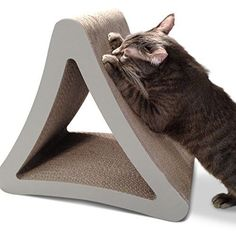 PetFusion 3Sided Vertical Cat Scratching Post Standard Size Warm Gray  Multiple Scratching Angles to match your cats preference * Continue to the product at the image link.