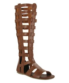 57e6cd77cb7 This MIA Shoes Cognac Duenas Woven Gladiator Sandal by MIA Shoes is  perfect!  zulilyfinds