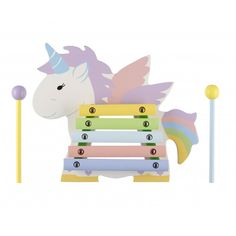 Children make magical music with Orange Tree Toys Unicorn Xylophone! A fabulous wooden toy for children. This xylophone boasts bright colours and a fabulous unicorn shape. Perfect to attract young toddlers. Beautiful Unicorn, Magical Unicorn, Toddler Toys, Kids Toys, Musical Toys For Kids, Sensory Toys, London, Bunt, Wooden Toys