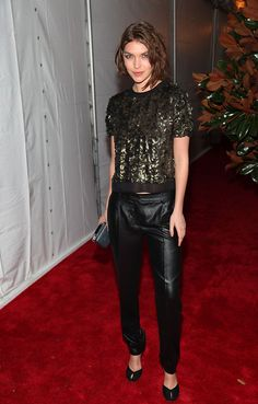 Arizona Muse at the CFDA/Vogue Fashion Fund Awards in New York.