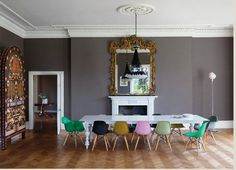 Colored dinning room