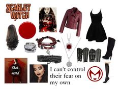 """Everybody's Afraid of Something-Scarlet Witch Cosplay"" by tymartz1424 on Polyvore featuring WithChic, Chicwish, Out From Under, Charriol, Bling Jewelry, BERRICLE, Quiksilver, Fratelli Karida and Margaret Dabbs"