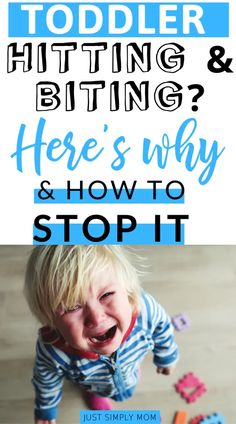 Learn positive behavior strategies to stop your toddler or child from challenging behaviors like hitting, buting, hair pulling, pushing, and kicking. Gentle Parenting, Kids And Parenting, Parenting Hacks, Toddler Behavior, Toddler Discipline, Toddler Speech, Potty Training Boys, Toddler Biting, Raising Teenagers