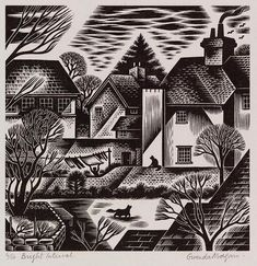 "864 Likes, 9 Comments - INK ON BLOCK (@inkonblock) on Instagram: ""Wood engraving by Gwenda Morgan (British 1908-1991) ""Bright Intervals""  1962"""