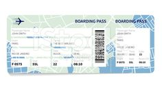 Airline boarding pass ticket with a map as a background. Best Airlines, Free Vector Art, Boarding Pass, Map, Doris, Airplanes, Passport, Royalty, Range