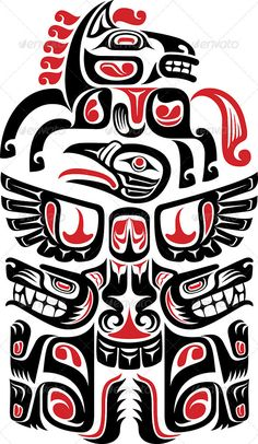 Hawaiian tattoos are a type of tribal tattoos, known for their beautiful designs and symbolism. They have distinct designs and meanings associated with them, thus making them unique from other Polynesian tattoo designs. Haida Kunst, Arte Haida, Haida Art, Haida Tattoo, Hawaiianisches Tattoo, Tattoo Wings, Totem Tattoo, Tribal Tattoos, Polynesian Tattoos