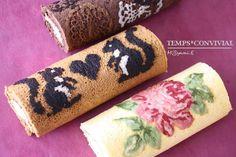 The Rose!!  art of roll cake