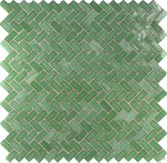 seafoam herringbone tile