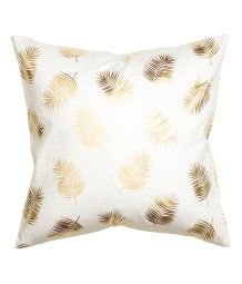 Leaf-patterned cushion cover - White/Gold - Home All Printed Cushions, Throw Cushions, Gold Decorative Pillows, Flat Interior Design, Fabric Stamping, Cute Room Decor, Teen Girl Bedrooms, Decorating Small Spaces, Home Decor Trends