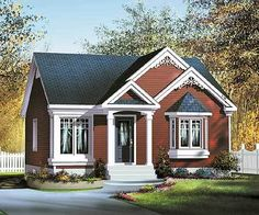 Cottage floor plans selected nearly ready-made house plans by leading architects and house plan designers. Cottage house plans can be customized for you. Cottage House Designs, Small Cottage House Plans, Small Cottage Homes, Cottage Floor Plans, Cottage Style House Plans, Small Cottages, Bungalow House Plans, Country House Plans, Cottage Design