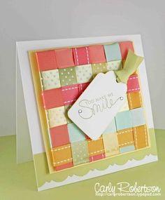 I LOVE this woven ribbon card