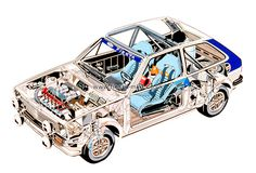 Ford Fiesta Mk 1 Cutaway drawing.