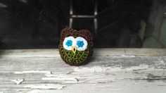 Brown Owl Pin by MaBsBoutique on Etsy, $7.50