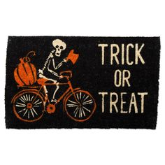 Halloween Trick or Treat Coir Mat