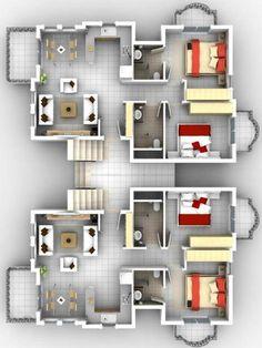 plano dos departamentos, plano complejo departamento, planos de edificio con departamentos #Departamentos House Layout Plans, Floor Plan Layout, Dream House Plans, House Layouts, House Floor Plans, Small Space Interior Design, Home Room Design, Small House Design, Home Design Plans