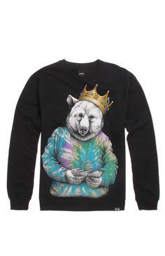 Rook Biggie Bear Crew Fleece #rook #pacsun