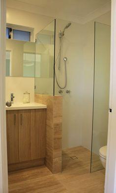 La salle de bain avec douche italienne 53 photos taupe - Paroi de douche lumineuse ...