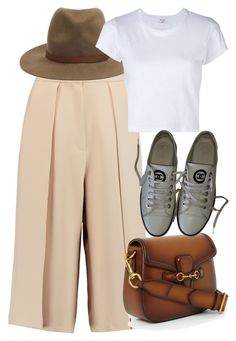 """""""Untitled #5466"""" by rachellouisewilliamson on Polyvore featuring Iris & Ink, rag & bone, RE/DONE, Gucci and Chanel"""