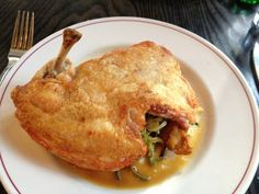 Crispy chicken ($24) | Yelp Little Owl, Crispy Chicken, Nyc, Meat, Food, Chicken Flatbread, Essen, Meals, Yemek