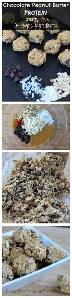 Chocolate Peanut Butter PROTEIN Energy Balls! SIGN UP for FREE Nutrition Newsletter: NutritionExpert.com/free-instant-access/